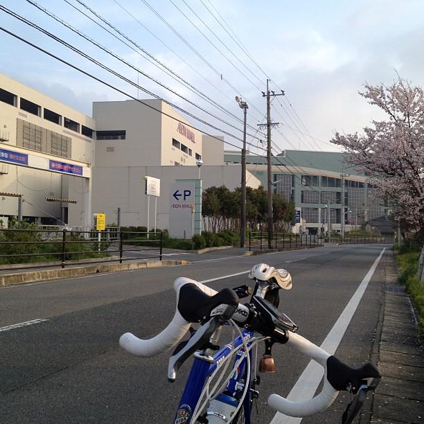 朝の通勤イオン筑紫野前にて。