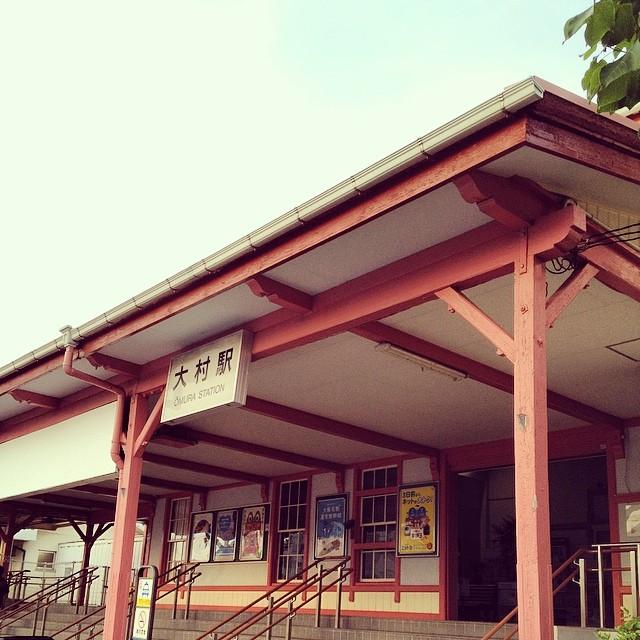 大村駅で迎えを待つ #like #station #カコソラ #空 #雲