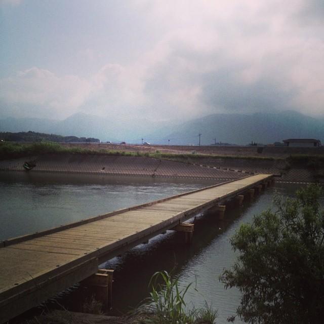 沈下橋渡ります #イマソラ #空 #雲