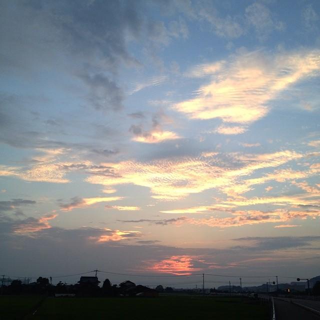 ライドも終盤。頑張ったご褒美の景色 #イマソラ #空 #雲 #like