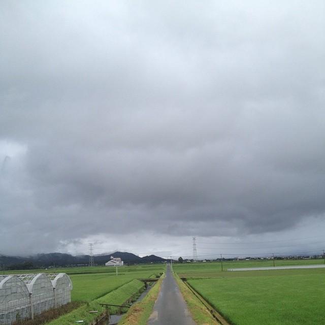 路面は濡れている #イマソラ #空 #雲