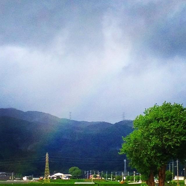 ちょい虹 #イマソラ #空 #雲