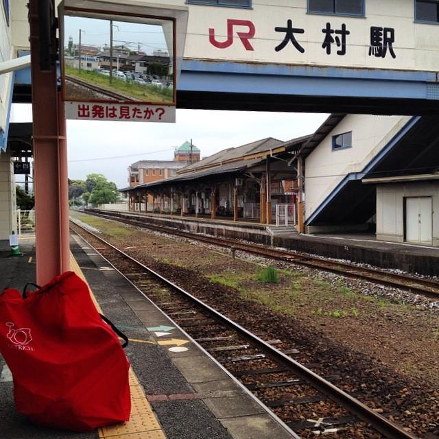 帰るよ #イマソラ #空 #雲 #駅 #大村駅 #鉄道 #like