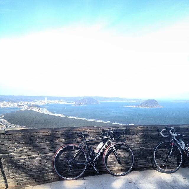鏡山攻略の図。脚がつりそう。 #イマソラ #空 #雲 #ロードバイク #like #鏡山