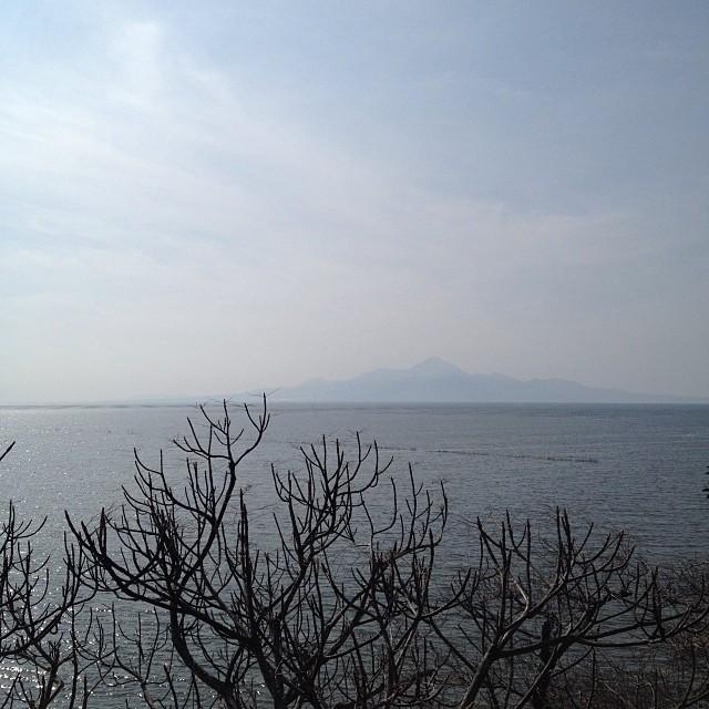 みかん旨し。景色最高!向かい風最低。。 #イマソラ #空 #雲 #like #ロードバイク