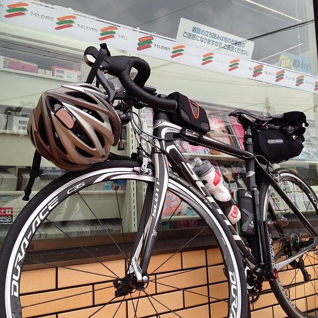 132km付近でセルフ休憩。 ここまで雨に降られず予定通りに進行。#brm405シマバラ200k #like #ロードバイク