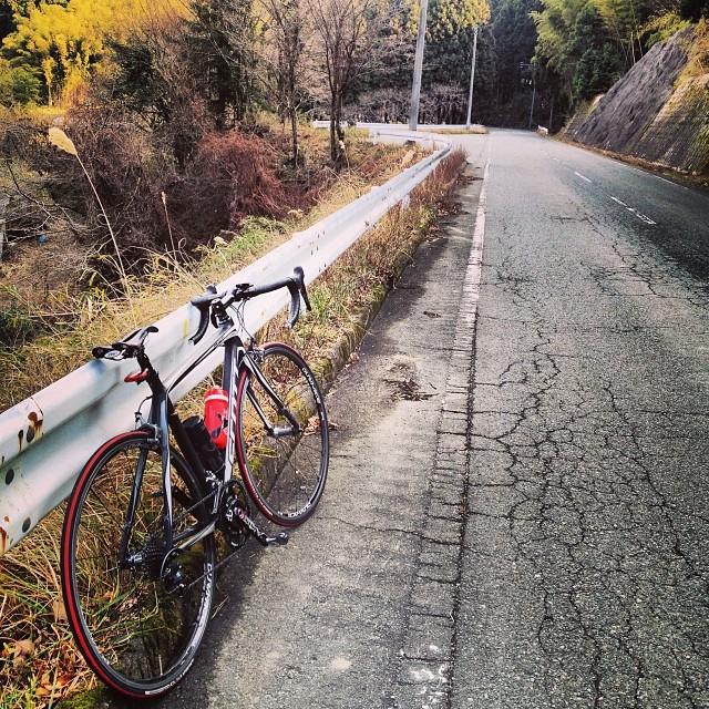 何処がピークだかよくわからん。さあ帰ろ。 #ロードバイク #like